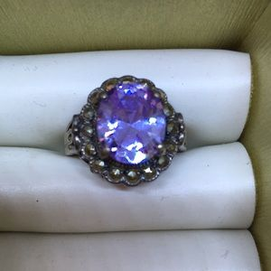 Jewelry - Amethyst .925 sterling ring size 7
